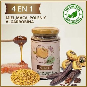Miel de abeja 4 en 1
